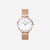 Rose Gold White Agate Mesh - White Agate : Soothing : 33mm