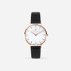 White Agate Rose Gold Black - White Agate : Soothing  : 33mm