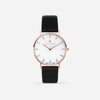 White Agate Rose Gold Black - White Agate : Soothing : 38mm