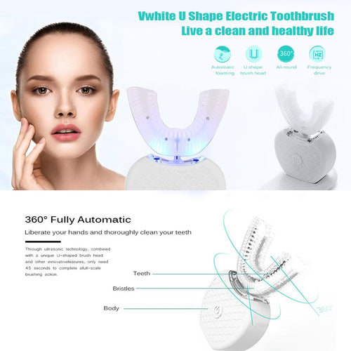 360° U-shape Intelligent Ultra Sonic Electric Toothbrush
