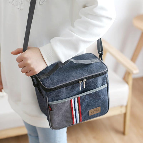 Denim Thermal Lunch Picnic Bags