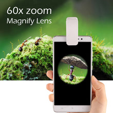 Load image into Gallery viewer, 60X Optical Zoom Microscope Lens For Phone W/Clip