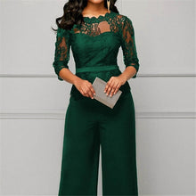 Load image into Gallery viewer, Women Lace Decoration Plus Size Jumpsuit