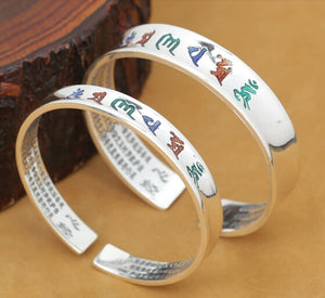Handcrafted Tibetan Sterling Silver Bangle