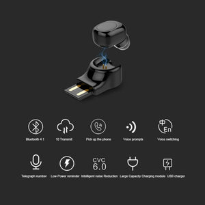 Wireless Bluetooth USB Magnetic Charging Earphone