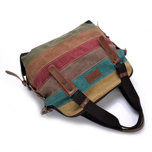 Load image into Gallery viewer, Patchwork Canvas Women's Shoulder Bag