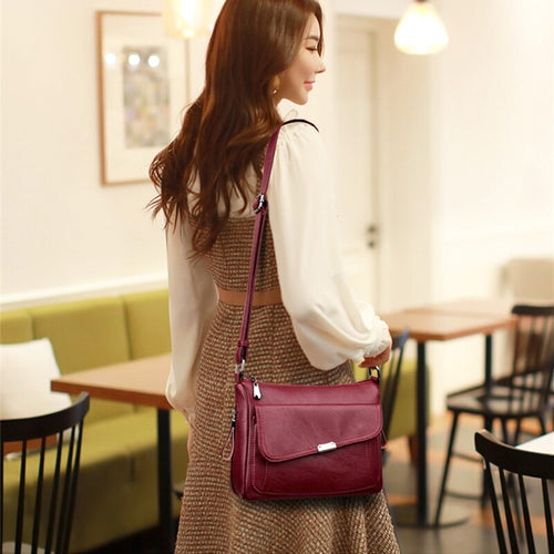 Soft Leather Women Designer Shoulder Handbag