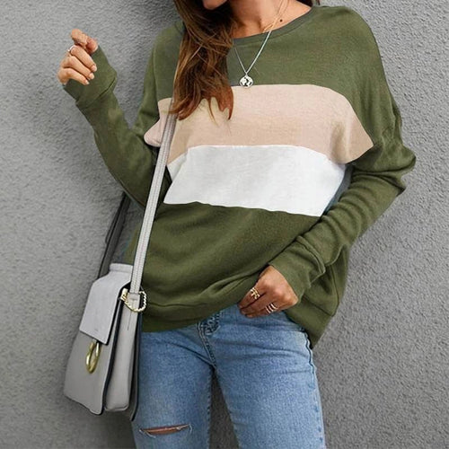 Striped Pullover Jumper Sweater For Women