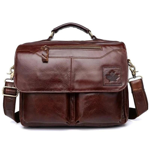 Genuine Leather Bag Briefcase For Men