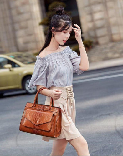 Casual Tote Letter Print Shoulder Bag
