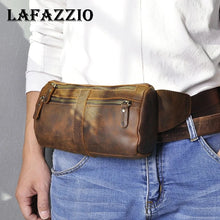 Load image into Gallery viewer, LAFAZZIO™ Quality Leather Fanny Waist Belt Bag