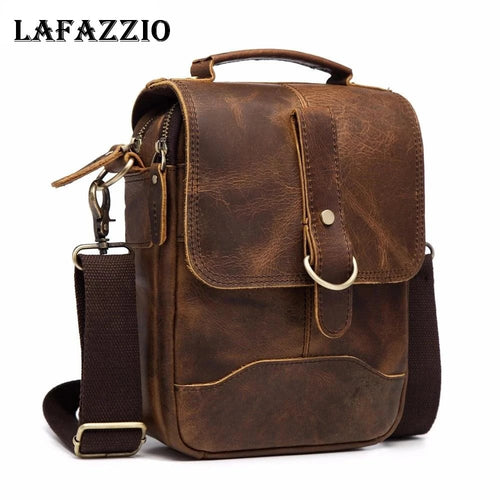 LAFAZZIO™ Leather Vintage Design Messenger Bag