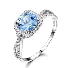 Load image into Gallery viewer, Sky Blue Topaz Aquamarine Gemstone Ring For Women