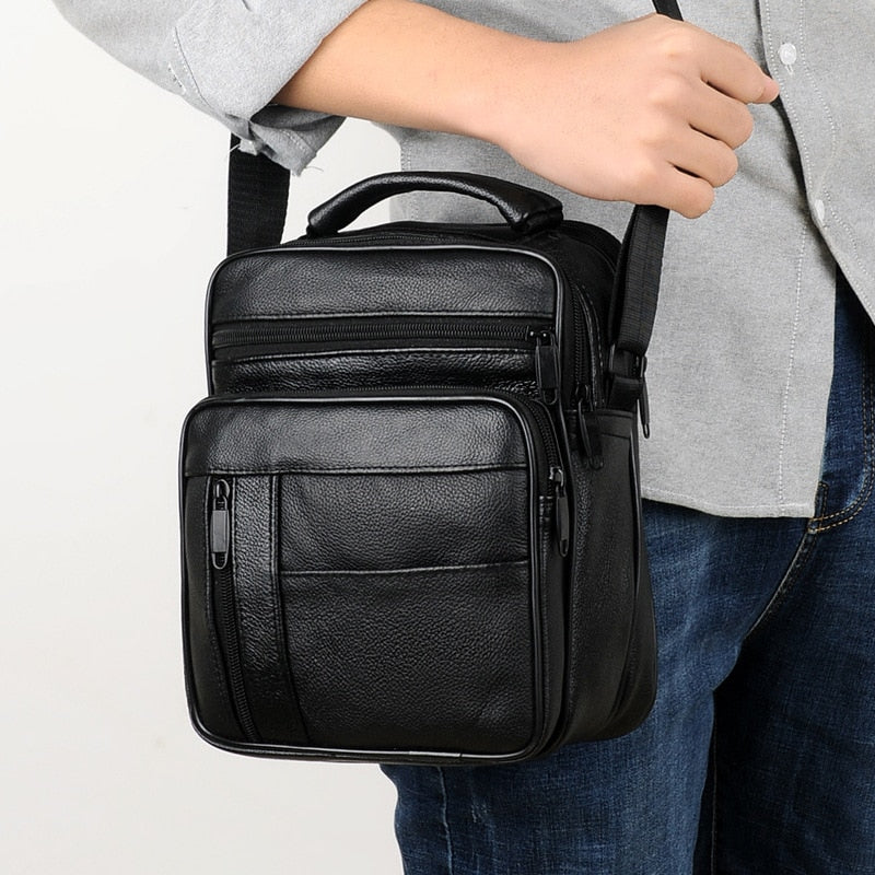 Small Real Leather Men's Business Shoulder Bag