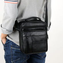 Load image into Gallery viewer, Small Real Leather Men's Business Shoulder Bag