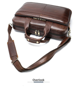 Executive Style Genuine Leather Laptop Briefcase