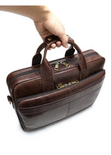 Load image into Gallery viewer, Executive Style Genuine Leather Laptop Briefcase