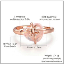 Load image into Gallery viewer, Sterling Silver Rose Quartz Gemstone 18K Rose Gold Plated Ring