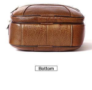 Top-layer Leather Crossbody Messenger Bag