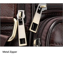 Load image into Gallery viewer, Top-layer Leather Crossbody Messenger Bag