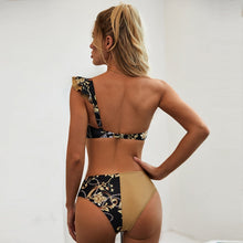 Load image into Gallery viewer, One Shoulder Peach Tan Sexy High Waist Bikini 2020