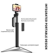 Load image into Gallery viewer, Integrated Metal Bluetooth Selfie Stick w/Tripod