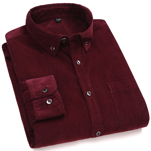 Corduroy Long Sleeve Warm Flanel Cotton Shirt