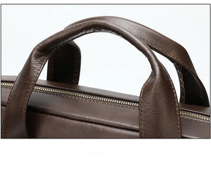 Top-layer Genuine Leather Laptop Bag Briefcase