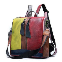 Load image into Gallery viewer, Retro Women Real Leather Shoulder Bag Backpack