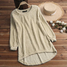 Load image into Gallery viewer, Fleece Long Sleeve Solid Color Sweater