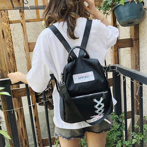 Anti-theft Trendy Oxford Satchel Student Backpack