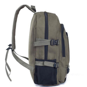 Student Laptop Canvas School Travel Backpack