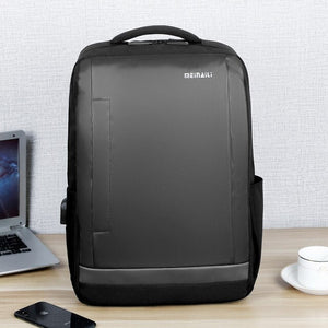 Water-resistant Oxford USB Laptop Backpack