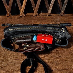 LAFAZZIO™ Quality Leather Fanny Waist Belt Bag