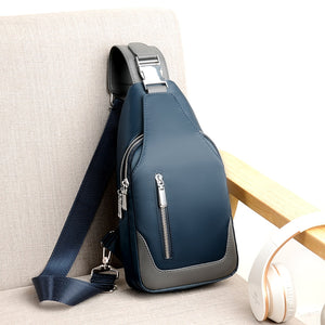 USB Water-resistant Messenger Crossbody Shoulder Bag