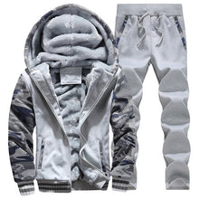 Load image into Gallery viewer, Tracksuit Set for Men Thick Fleece Hoodie and Pants