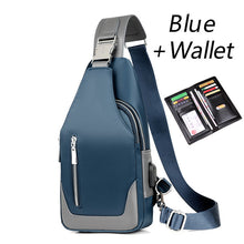 Load image into Gallery viewer, USB Water-resistant Messenger Crossbody Shoulder Bag