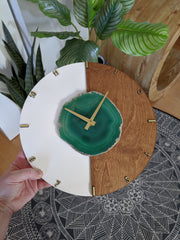 "12"" Custom Agate Vertical Color Block Wall Clock - Mod North & Co."