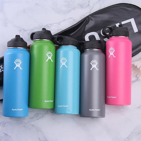 Stylish wide mouth hydro flask with straw lid - LaViemate