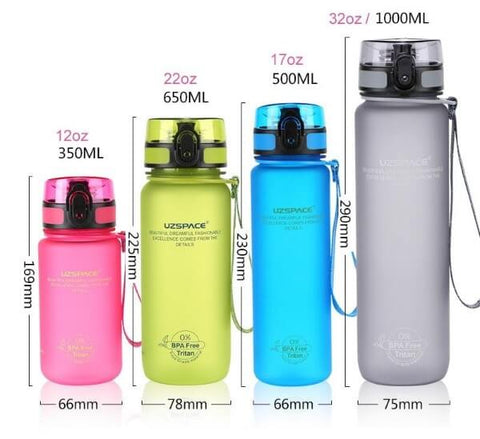 Colorful workout water bottles - LaViemate