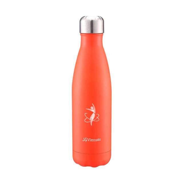 Orange LaViemate 17 oz hydro flask water bottle  - LaViemate