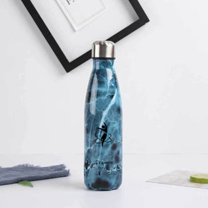 Blue and black LaViemate hydro flask water bottle  17 oz- LaViemate