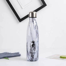 Load image into Gallery viewer, White and black LaViemate 17 oz hydro flask water bottle - LaViemate