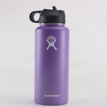 Load image into Gallery viewer, Purple 32 oz wide mouth hydro flask with straw lid- LaViemate