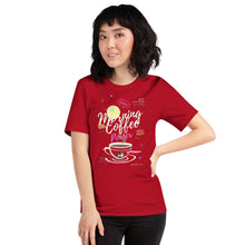 Load image into Gallery viewer, Coffee and dog graphic tee shirt - LaViemate