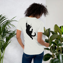 Load image into Gallery viewer,  jersey tee shirt with cat paint- LaViemate