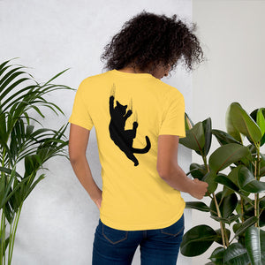 jersey tee shirt with cat paint- LaViemate