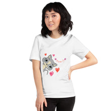 Load image into Gallery viewer, white Cat paint jersey tee shirt - LaViemate
