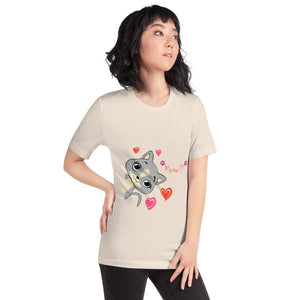 Cat graphic jersey tee shirt - LaViemate