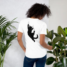 Load image into Gallery viewer, cat lover jersey tee shirt- LaViemate